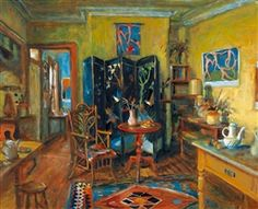 Margaret Hannah Olley - Afternoon (Chinese Screen And Yellow Room) x 75 cm) Australian Painting, Australian Artists, Brindille, Visual And Performing Arts, Claude Monet, Art Auction, Beautiful Paintings, Art World, Altered Art