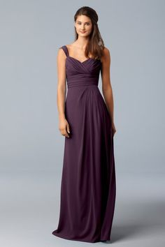 If I had this dress I would just wear all over the place: on the couch, at school, grocery shopping....  WTOO plum bridesmaid dress