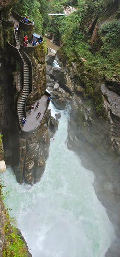 Diablo waterfall in Ecuador
