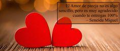 El #amor de pareja no es algo sencillo de conseguir, pero es muy agradecido cuando te entregas 100% #seneidayalejandro