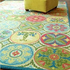 garden stepping stones rug by posh tots $86