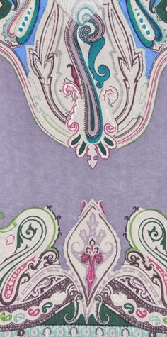Etro Purple Pullover Paisley Detail