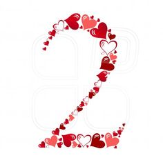Number of hearts vector illustration Happy Anniversary To My Husband, 5th Wedding Anniversary, Math Numbers, Alphabet And Numbers, Flamingo, Silhouette Art, Cute Love Quotes, Hand Art, Decoupage