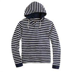Halyard stripe button hoodie - AllProducts - sale - J.Crew