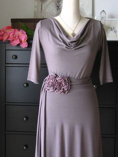 Cowl Neck Dress  Fall Dress Winter Dress Long Sleeved by Lirola, $95.00