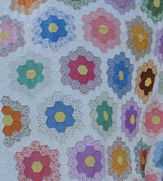 grandmother's flower garden quilt by B's Modern Quilting - gorgeousness