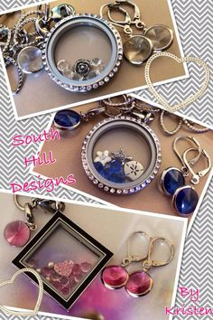 Beautiful Swarovski earrings and droplets to go with your locket!