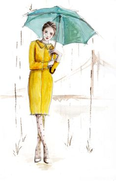 #fashion #sketch #drawing                                                            By Fashion Illustrator Katie Rodgers.