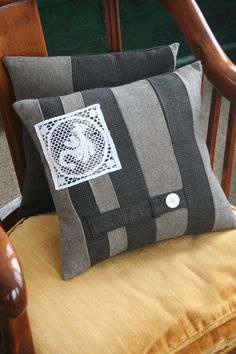 Honeymoon Brown Wool Tweed PILLOW COVER 14 Inch by EmmaDear, $25.00