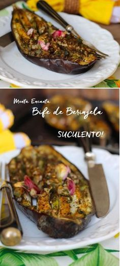 Bife de Berinjela, comida de verdade, saudável, sem carne, muito saborosa, assada e pronta num piscar de olhos. Receita sem carne.