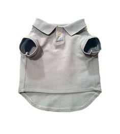 Small Pale Blue Designer Dog Polo Shirt, Pet Puppy Clothes Apparel
