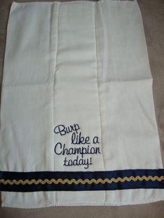 Notre Dame Burp Cloth