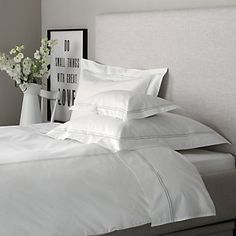 Dulwich Bed Linen - Silver | The White Company