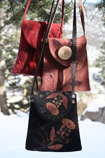 Great little purses made from felted wool.