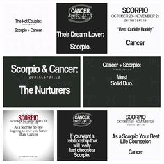 Cancer female and scorpio male chemistry