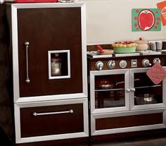 Dear MyMomShops,I'm trying to find a pretend kitchen for my daughter that is made out of wood and stylish enough that it's not a huge behemoth in the living room. We have a small house so our 'living