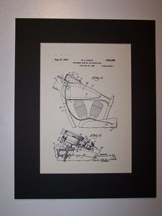 Harley Instrument Mounting for Motorcycles 1937 Patent Drawing Motorcycle Harley Davidson