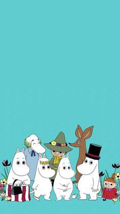 Moomin Wallpaper, Wallpaper Space, Locked Wallpaper, Iphone Wallpaper, Happy Wallpaper, Little My Moomin, Les Moomins, Tove Jansson, Studio Ghibli Movies