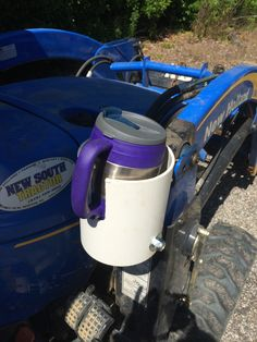 Bubah cup holder mounted on my new holland tractor