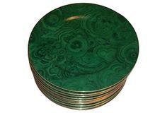 Neiman Marcus Plates, Set of 8 at OKL -- Malachite Gorgeousness