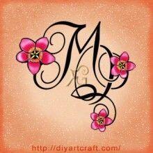 monogrammed wrist tattoos - Google Search