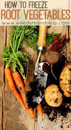 How to Freeze Root Vegetables - this process cuts down the prep work for cooking meals