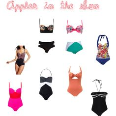 Apples in the Sun by lizkzook on Polyvore featuring Betsey Johnson, Dickins & Jones, Topshop, Gottex, River Island, Marie Meili, Playful Promises, bigger in the middle, tummy and body type