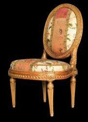 louis delanois menuisier siege fauteuil du barry louvecienne versailles cannelure medaillon | Authenticité