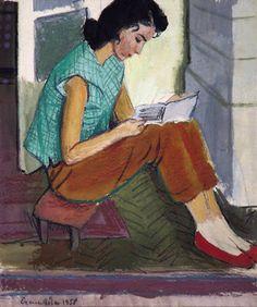 Czene, Béla (1911-1999) Olvasó lány