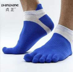 1 pair Fashion Spring Summer Mens Socks Cotton Five Finger Socks Casual Toe Socks Breathable Ankle Socks 39-43
