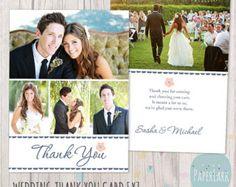 Wedding Thank You Card Photoshop template von PaperLarkDesigns