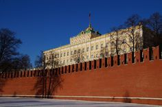 Number 2 on your list of things to do in Moscow: The moscow kremlin (seen from the banks of the moscva)