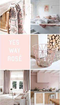 moodboard - soft pink decor www.boschinterieuradvies.nl