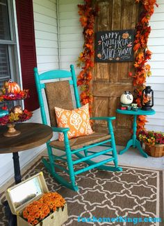 Fall Front Porch 2016 {Reveal