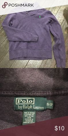 Polo pull over size XS I have a dark purple polo pullover that is a XS. Perfect condition Polo by Ralph Lauren Jackets & Coats