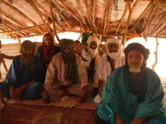 Tuareg elders at Mentao Refugee Camp. Image by Peter Chilson. Mali, 2012.