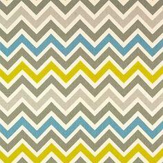Zoom Zoom Summerland Natural Chevron Stripe Home Decorating Fabric - Premier Prints