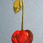 my cherry in royal icing, a sugar decoration inspired by a great silk embroidery work of RSN