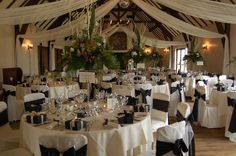 The Great Hall at Mains - Black and White theme