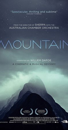 An epic cinematic and musical collaboration between Sherpa filmmaker Jennifer Peedom and the Australian Chamber Orchestra, that explores humankind's fascination with high places. Narrated by Willem Dafoe. Netflix Movies To Watch, Good Movies To Watch, Great Movies, Films Hd, Hd Movies, Movies Online, Film Movie, Cinema Movies, Blu Ray