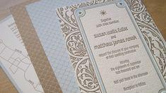 Art Deco Letterpress Border | Art Deco Wedding Invitations Blue Brown 500x280 Art Deco Garden Party ...