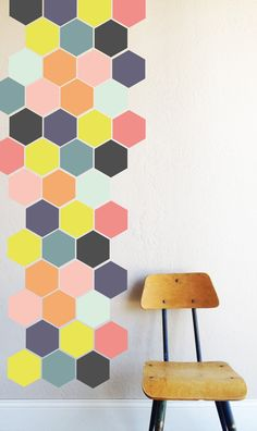 Bright Honey Comb  WALL DECAL von TheLovelyWall auf Etsy