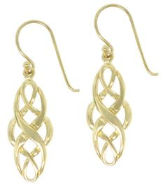 18k Yellow Gold Plated Sterling Silver Celtic Design Oval Dangle Earrings: http://www.amazon.com/Yellow-Plated-Sterling-Silver-Earrings/dp/B001G0NN6Q/?tag=utilis-20