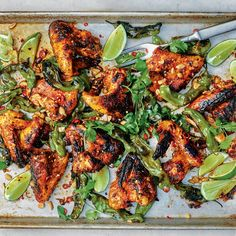 Hot Honey Wings Recipe | Bon Appétit Honey Wings, Grilled Chicken Wings, Tandoori Chicken, Honey Chicken, Wing Recipes, Most Popular Recipes, Favorite Recipes, Asian, Sweet And Spicy