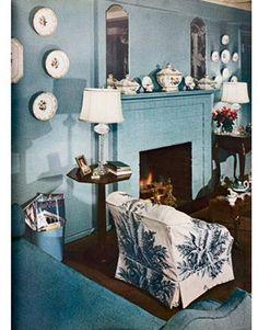 Blue and white c. 1950  #blueandwhite #bleublanc
