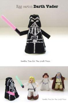 Egg Carton Darth Vader