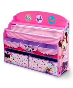 Loving this Minnie Mouse Deluxe Book & Toy Organizer on #zulily! #zulilyfinds