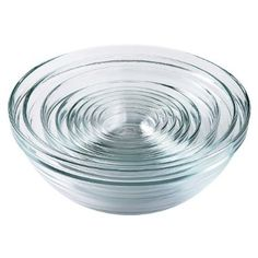 Duralex 9pc Glass Stackable Bowls - Clear: Made of tempered glass. Dishwasher and microwave safe $27.99 #Bowls #Duralex
