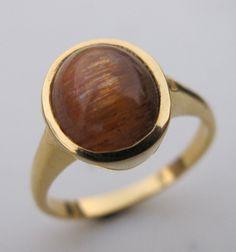 Sunstone Ring- Sun Ring- Stone Ring- Gemstone Ring- Silver Sunstone Ring- Silver Ring- Bezel Ring- Cabochon Ring- Ring