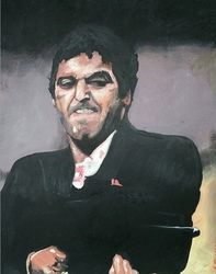 "102) William Melendrez Never Die 24"" x 18"" Acrylic on Canvas"